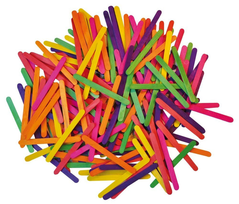 Playbox 115 x 9mm Coloured Wood Sticks (2500 Pieces)