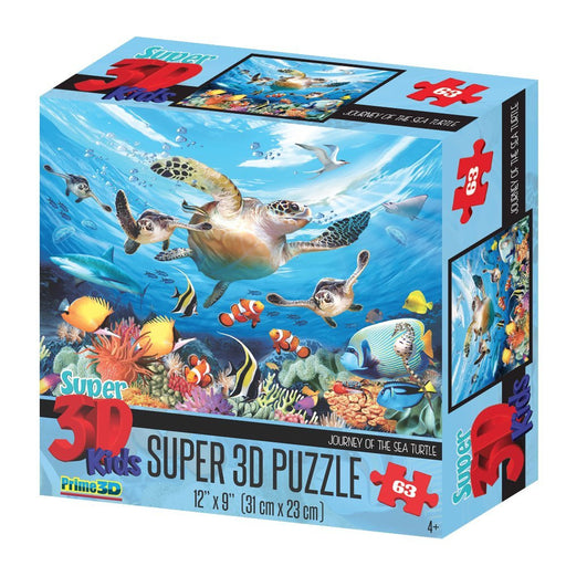 "Howard Robinson HR13502 Super 3D ""Journey of the Sea Turtle"" Puzzle (63-Piece)"