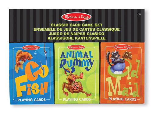 Melissa & Doug Classic Card Games Set - Old Maid, Go Fish, Rummy