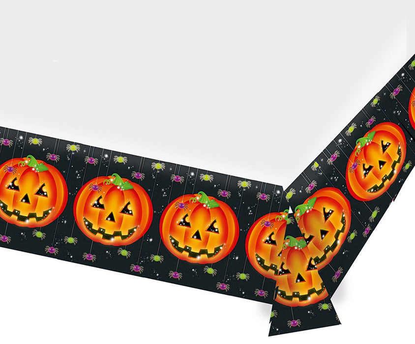 Amscan International 1.4 x 2.6 m Pumpkins Plastic Table Cover