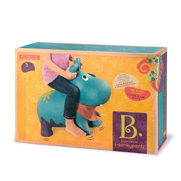 "B ""Bouncy Boing Hankypants Hippo Hopper"" Toy"