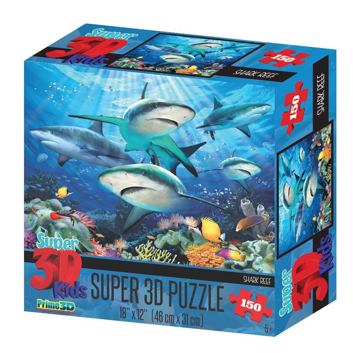 Howard Robinson HR10804 Super 3D Reef Sharks Puzzle (150-Piece)