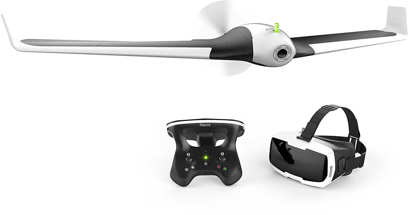 Parrot DISCO Fixed Wing Drone with Skycontroller 2 and Cockpit FPV Glasses with 45 minutes flight time & return to home
