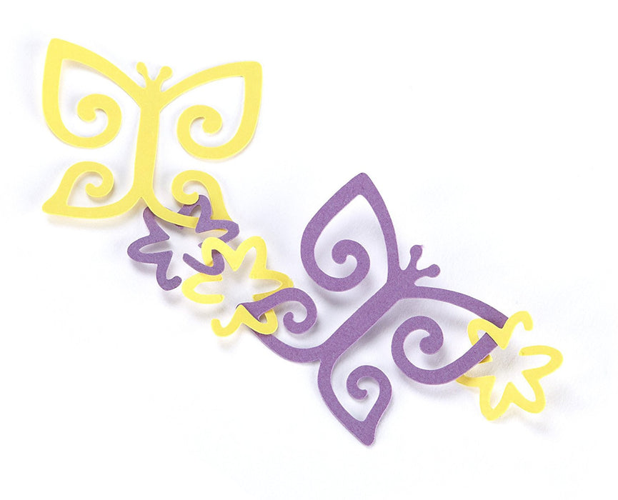 EK Success Butterfly and Flower Garland Punch, White