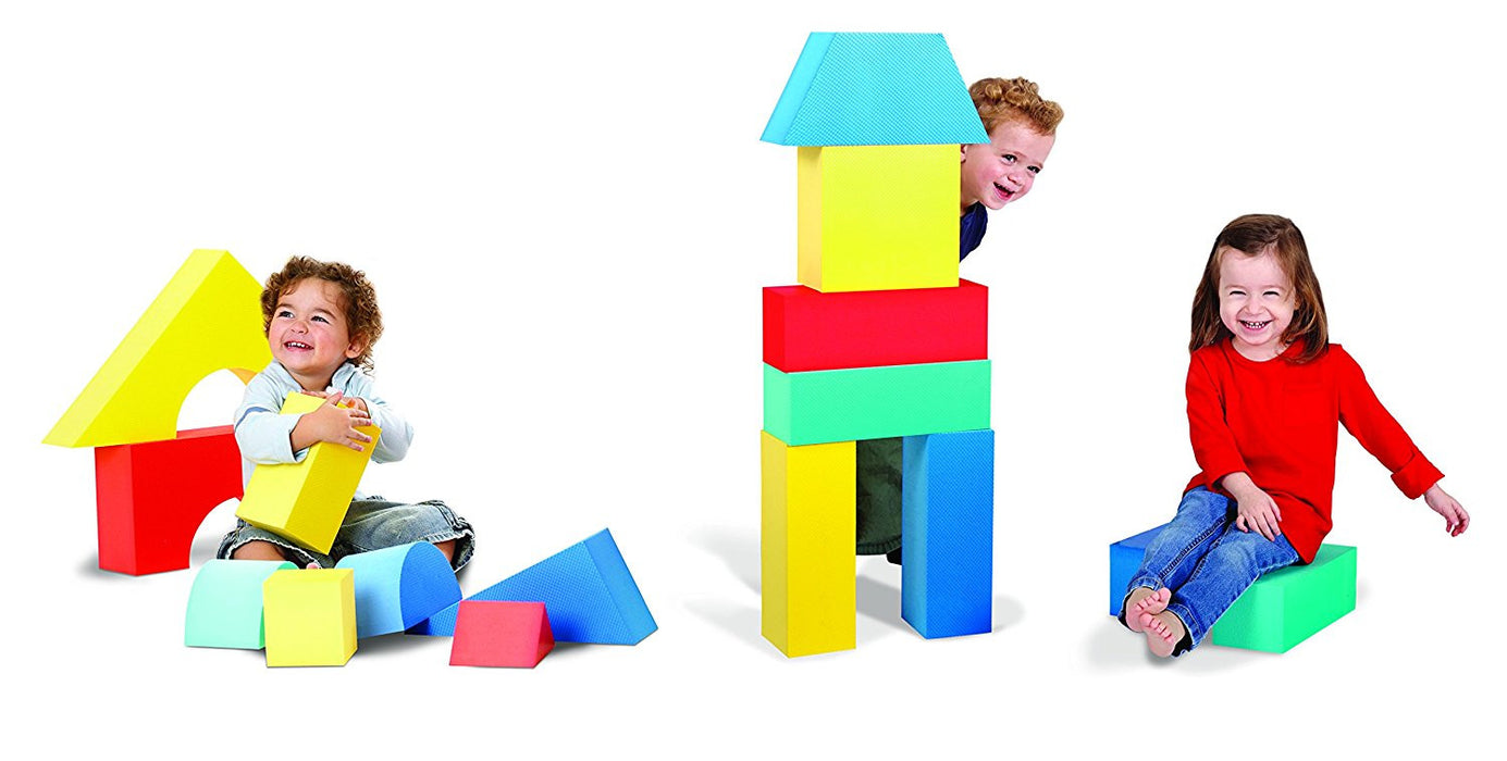 Edushape Giant Foam Blocks Construction Toy - 16 pcs