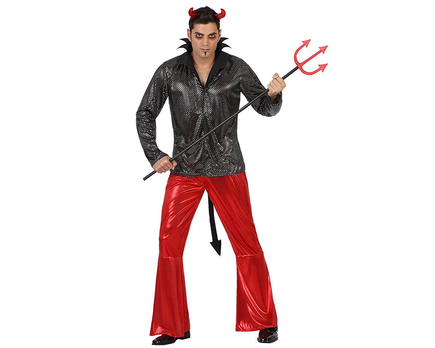 atosa 22658 - Devil Costume - Medium/Large, Black/Red