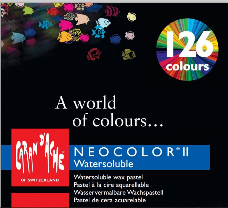 "Creative Art Materials ""Caran D'Ache NeoColor II"" Water Soluble Wax Pastel Set, Multi-Colour, Pack of 30"