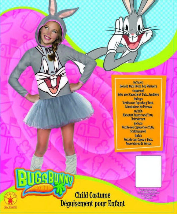 Rubie's Official Girl's Looney Tunes Warner Bros Bugs Bunny Hoody, Child Costume - Small