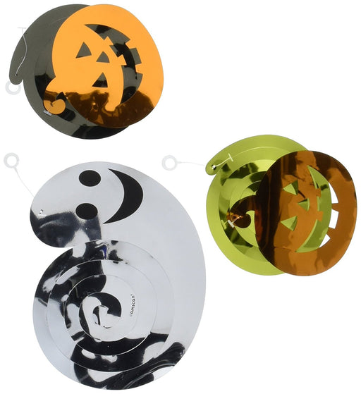 Amscan International 670460 Pumpkins and Ghosts Swirls Hanging Decorations Pack