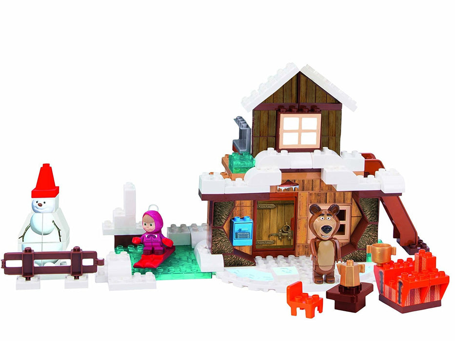 "Big 800057100 ""Bloxx Masha and the Bear's Winter House"" Building Blocks Set"