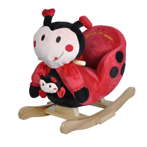 Knorrtoys 40357 Rocking Animal Ladybird Marie with Sound Including Hand Puppet