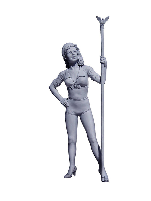 "Masterbox 1:24 Scale ""Pin-up series, Kit No. 2. Betty"" Construction Set (Grey)"
