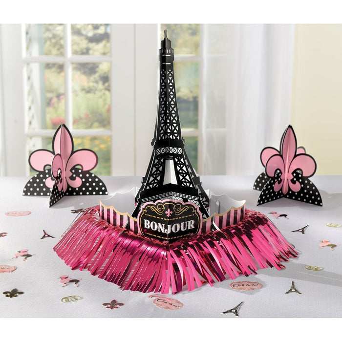 Amscan International 280058 A Day in Paris Table Decoration Kit