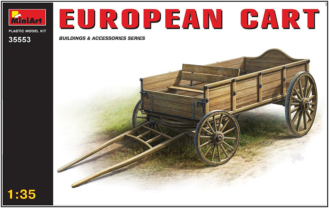 "Miniart 1:35 Scale ""European Cart"" Plastic Model Kit"