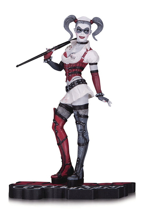 DC Comics JUN160388 Harley Quinn Red White and Black Arkham Asylum Statue