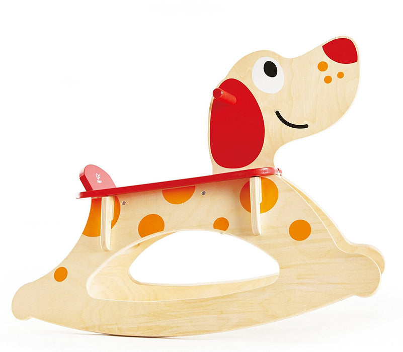 "Hape HAP-E0103 ""Christmas Special Rock-A-Long Puppy Ride On"" Toy"
