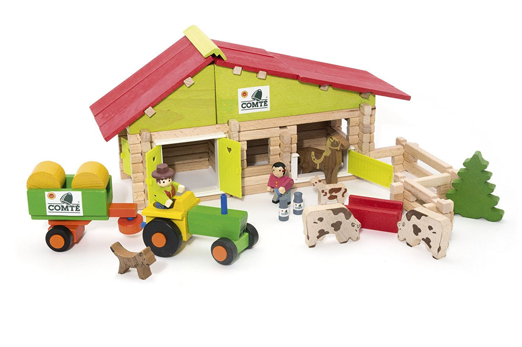 Jeujura Farm Wooden Construction Kit (140-Piece)