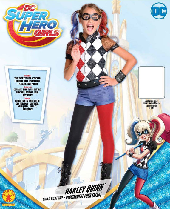 Rubie's Official DC Super Hero Girl's Deluxe Harley Quinn Costume - Medium