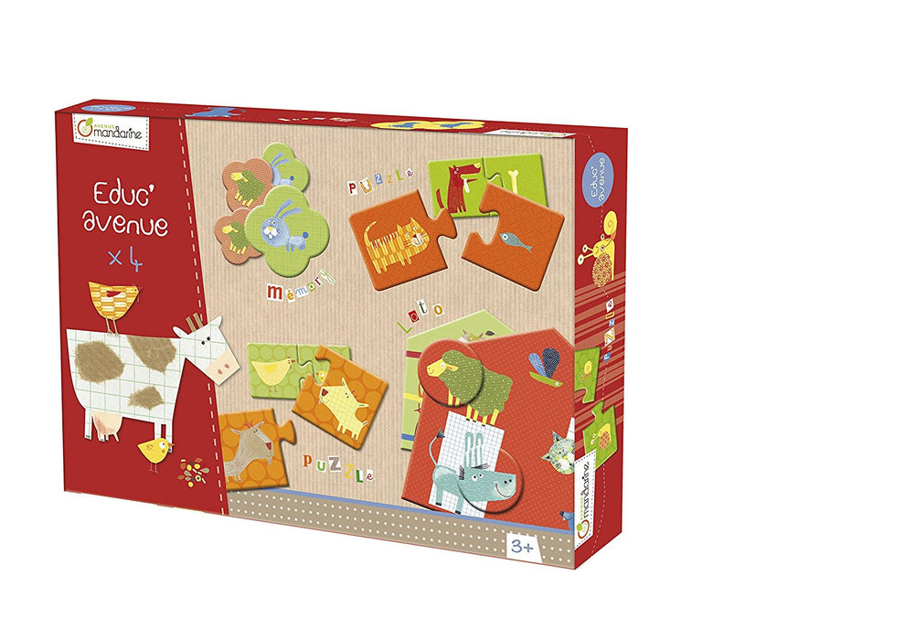 Avenue Mandarine Farm Educational Pack Containing Various Games