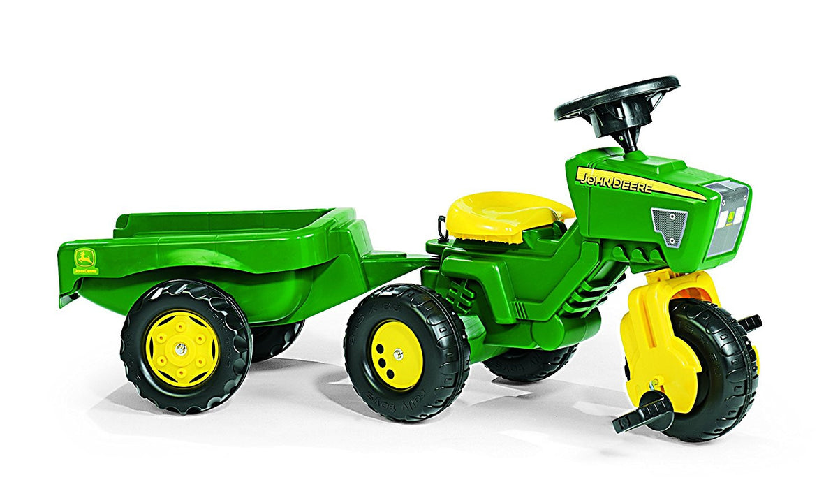 Rolly Toys John Deere Trio Trac with Electronic Steering Wheel and Trailer