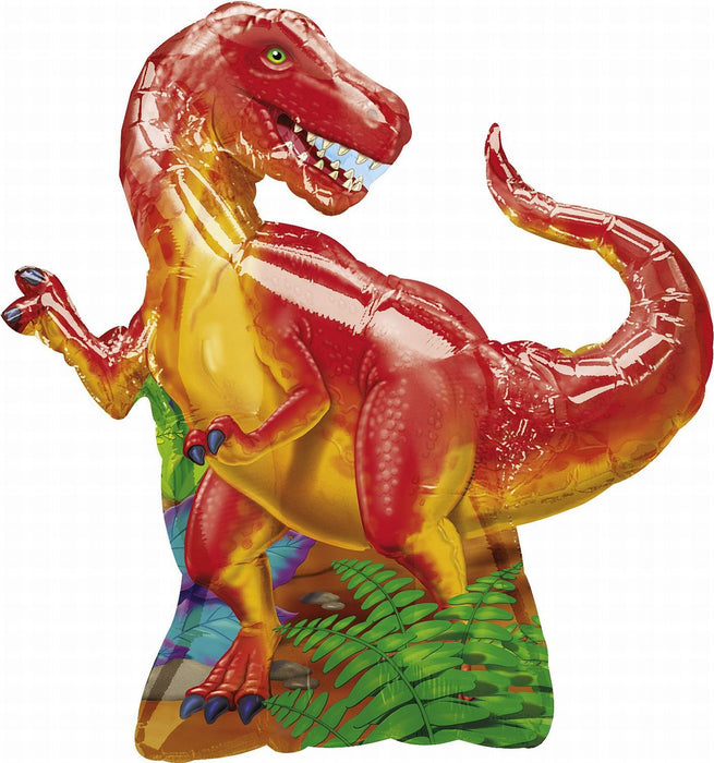 Dinosaur Supershape Foil Balloon, sold uninflated