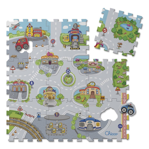 Chicco 7163000000 Puzzle Mat City (9 Pieces)