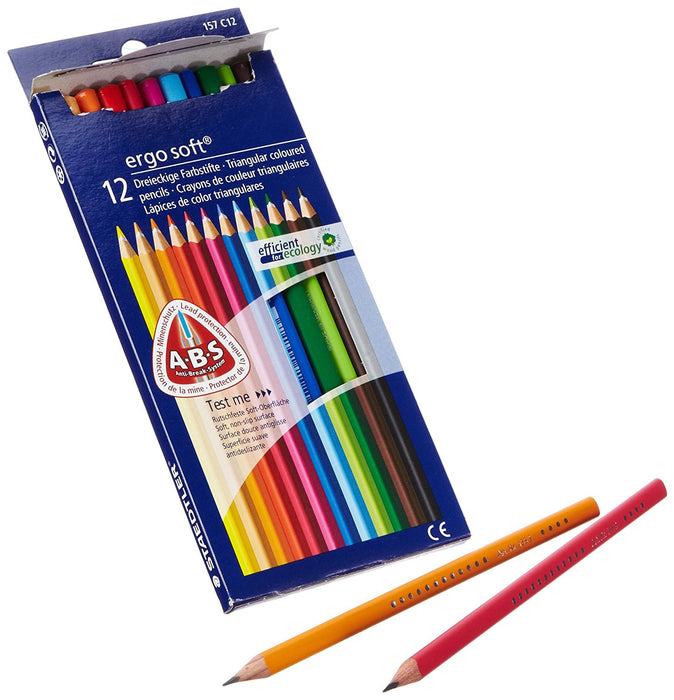 Staedtler 61 SET10 Coloured Pencil (Pack of 12)-Limited Edition ergo soft pencil Free (Imported from Germany)