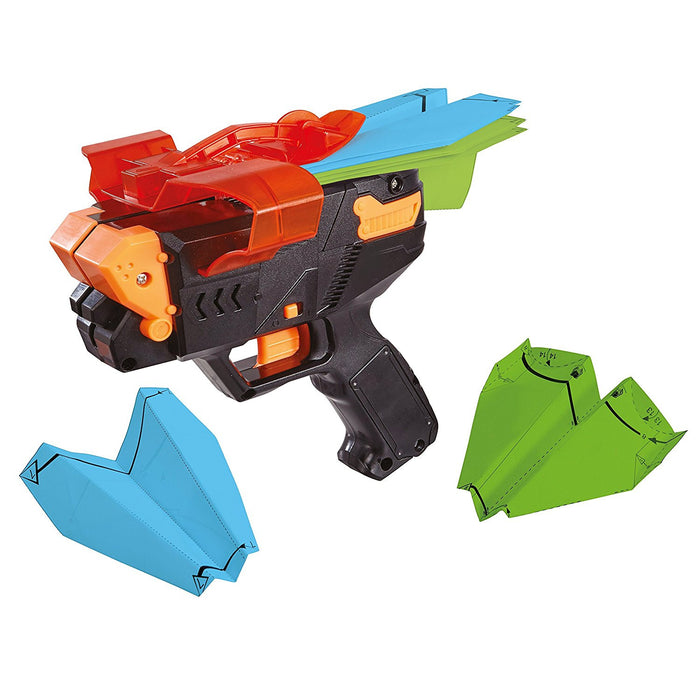 The Ultimate Paper Plane Launcher Shooter Toy - Black and Orange