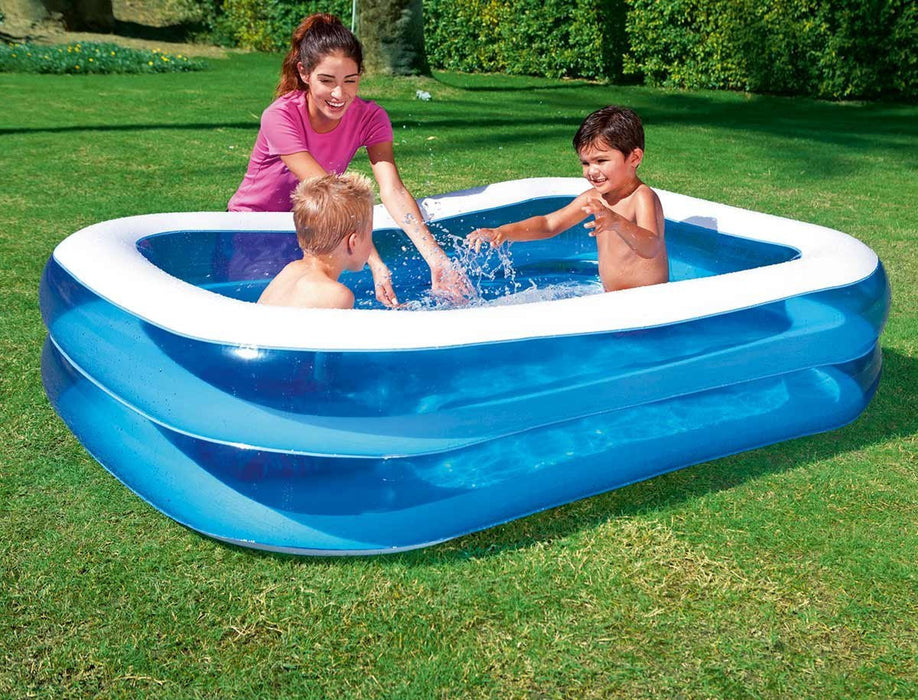 Bestway Rectangular Inflatable Family Pool - 79 inch, Blue