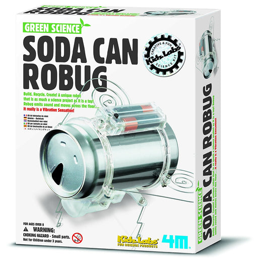 Green Science Soda Can Robug