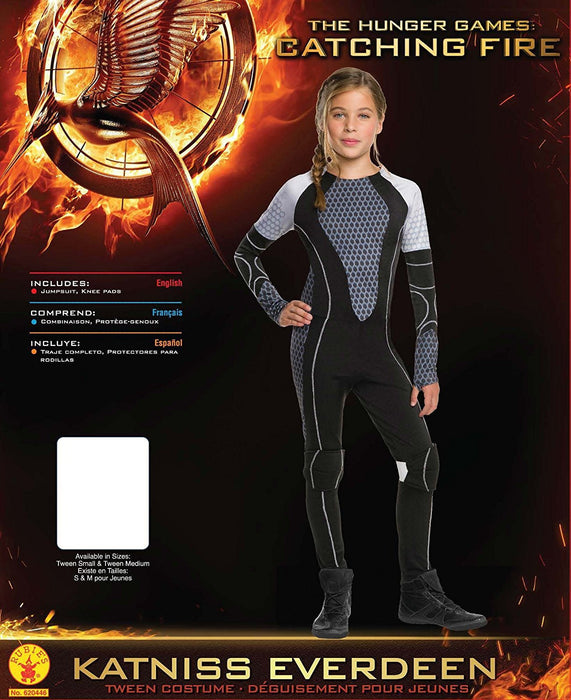 Rubie's Official Katniss Girls Hunger Games Fancy Dress Kids Tweens World Book Week Day Costume