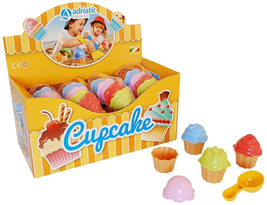Adriatic 6 x 18 cm Beach Toys Cupcakes Set in Display