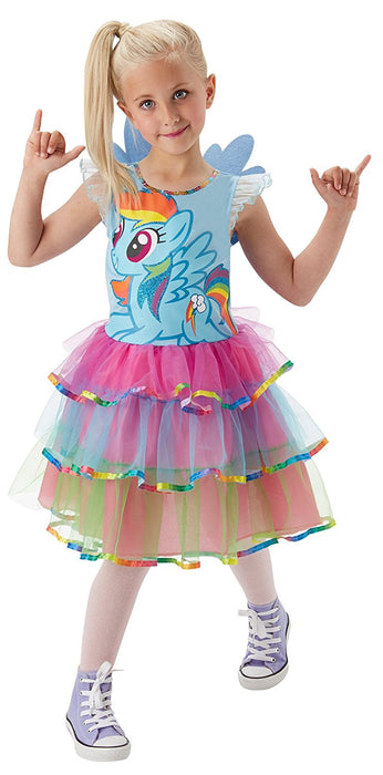 Rubie's Official Rainbow Dash My Little Pony Fancy Dress Girls Cartoon Childs Kids Costume Outfit