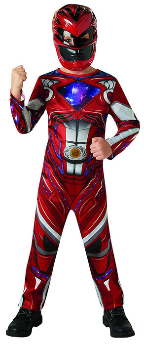 Official Rubie's Power Rangers Movie - Red Ranger Classic Childs Costume Large, 7-8 years