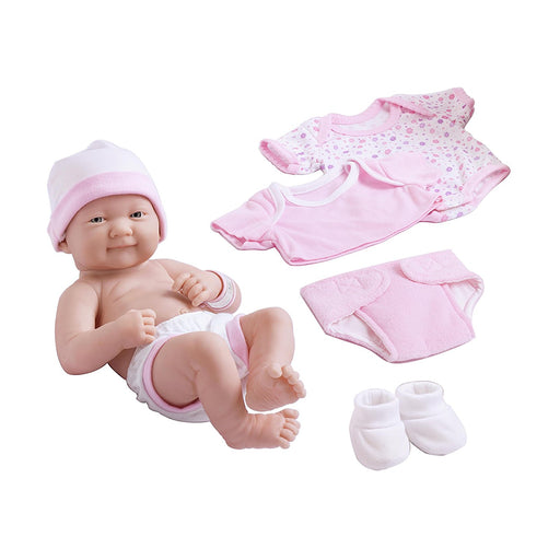 Berenguer Dolls 18543_La Newborn 8 Piece Layette gift set, 14-inch , Pink