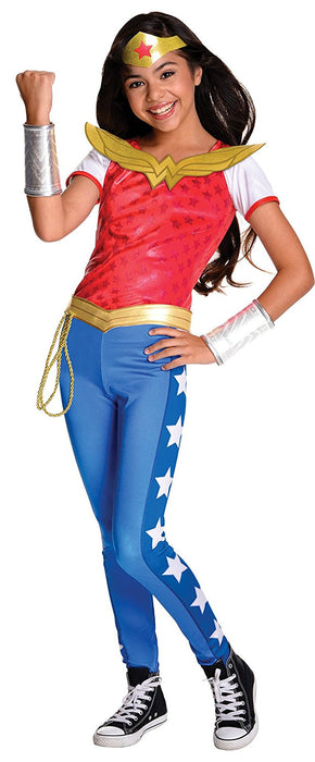 Rubie's Official Deluxe Wonder Woman Girls Fancy Dress DC Comic Book Day Superhero Childs Costume