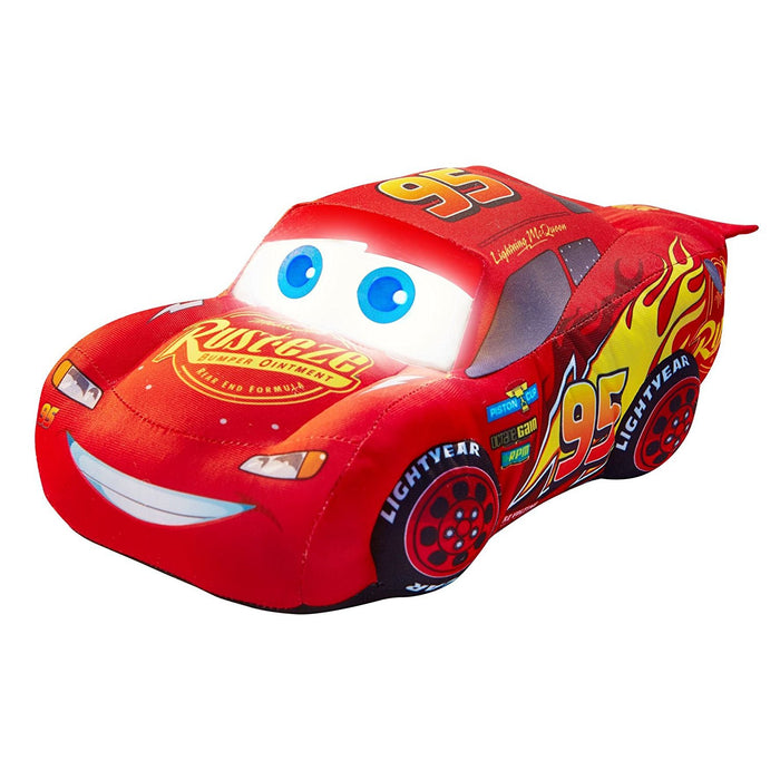 Disney Cars Lightning McQueen Plush Pal Night Light Soft Toy by Go Glow