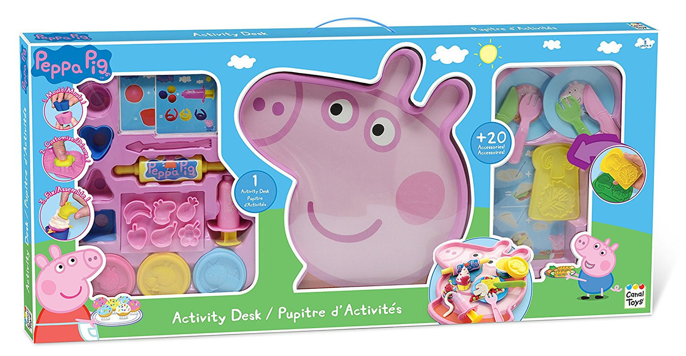 Peppa Pig Dough Activity Desk with Accessories