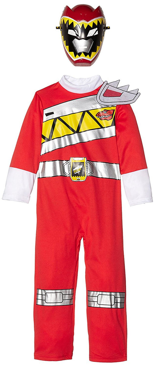 Rubie's Official Power Rangers Dino Charge Red Ranger Flat Chest, Child Costume - Medium Ages 5 -6