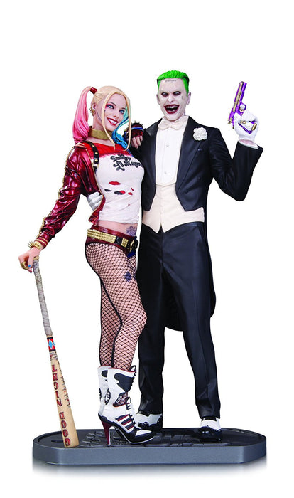 DC Comics AUG160374 Suicide Squad Movie Joker and Harley Quinn Statue
