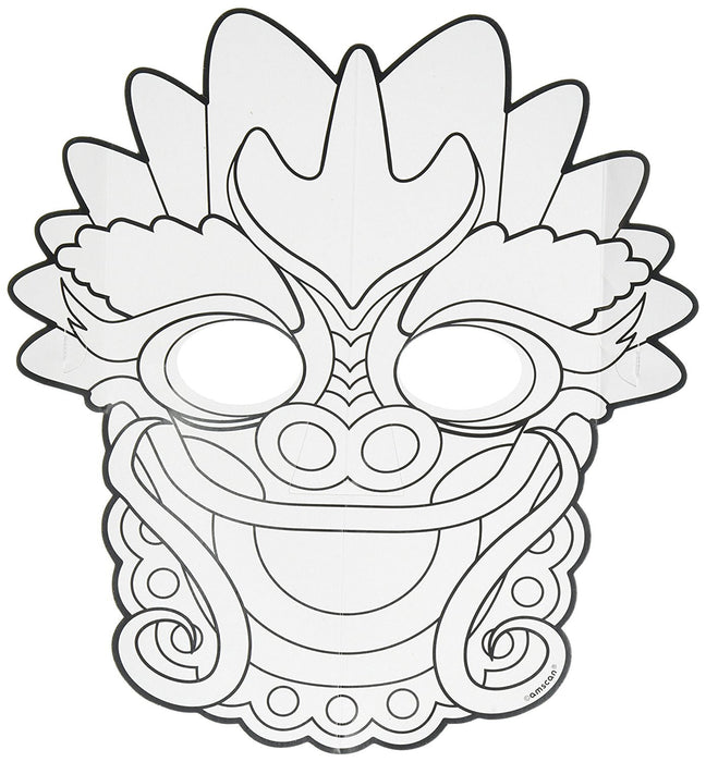 Amscan 360200 Chinese New Year Colour Your Own Dragon Mask