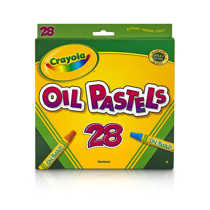 Crayola; Oil Pastels; Art Tools; 28 ct; Bright, Bold Opaque Colors; Jumbo Size; Hexagonal Shape