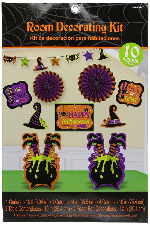 Amscan International 241149 Witches Crew Room Decorating Kits