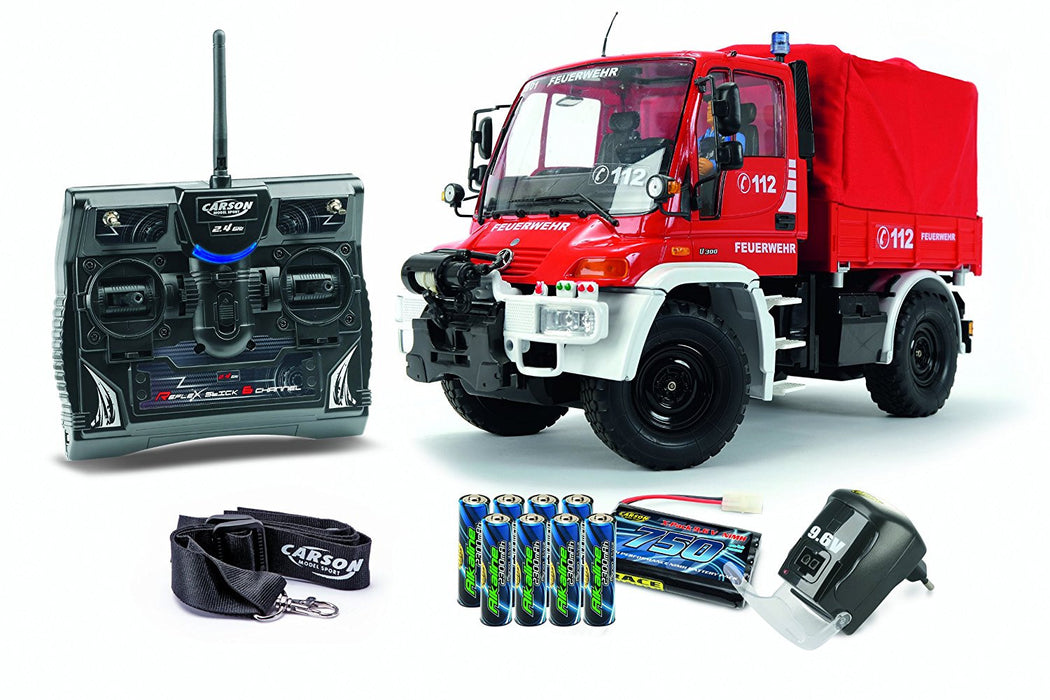 Carson 500707109 - 1: 12 Scale Unimog Fire Engine 100% RTR model