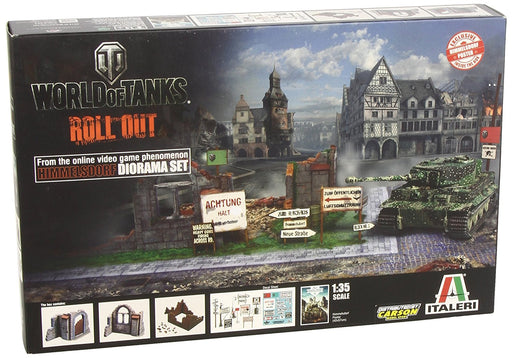 Italeri 1: 35 510036505 - World of Tanks Diorama Box Sky Village