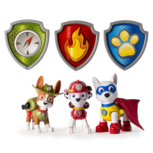 "Paw Patrol 6033363 ""Tracker, Apollo & Marshall"" Action Pack Pup Set"