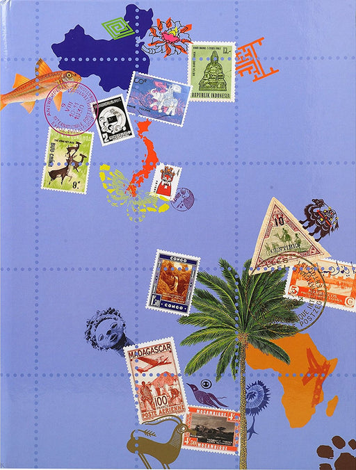 Exacompta 16.5 x 22.5 cm Globe Trotter Stamp Album - Black