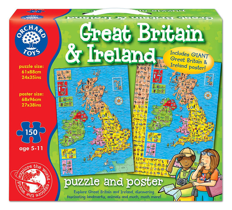 Orchard Toys Great Britain & Ireland Map Puzzle Jigsaw Puzzle (150 Pieces)