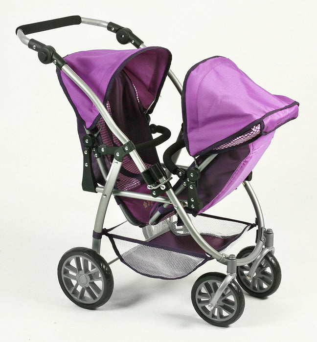Bayer Chic 2000 689 28 Tandem buggy VARIO, Purple Checker, Lilac