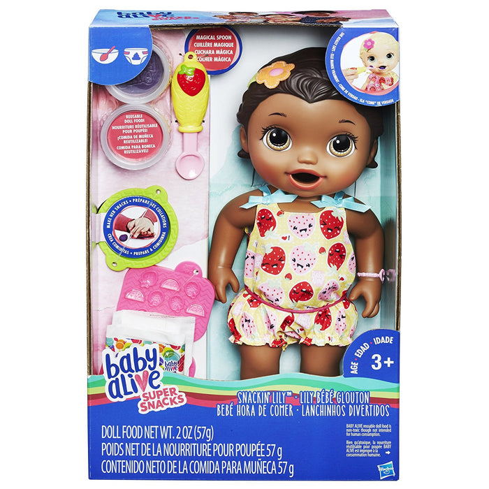 Baby Alive Super Snacks Snackin' Lily (African American)